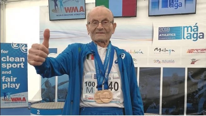 Ottaviani, Giuseppe, atleta centenario, record, mondiali