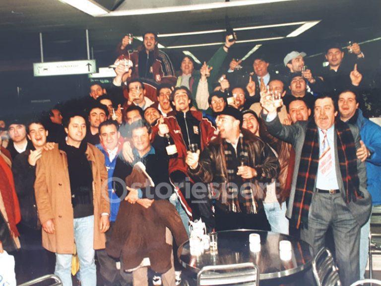 Tifosi e giocatori della Salernitana