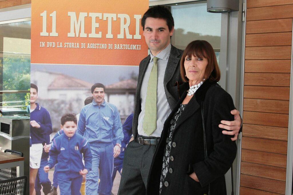 Luca Di Bartolomei con la mamma, Marisa De Santis
