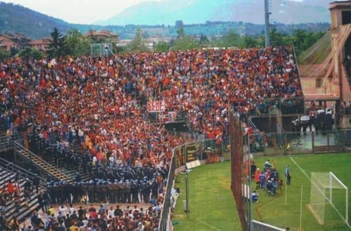 I tifosi della Salernitana a Bergamo