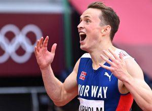 Karsten Warholm ha appena stabilito il nuovo record del mondo sui 400 ostacoli